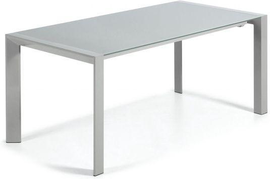 Glazen Eettafel 160 X 90.Eettafel Kara Verlengbaar 160 Tot 220 Cm Grijs Gehard Glas La Forma